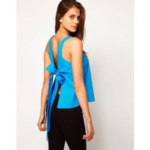 Asos vest with bow back - blue marki Asos design