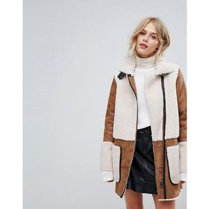 Esprit teddy coat patch - tan