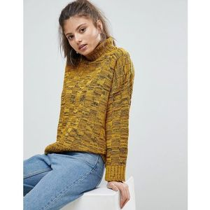 Missguided high neck knitted jumper - yellow