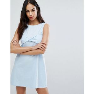 twist bralet 2 in 1 dress - blue, Missguided