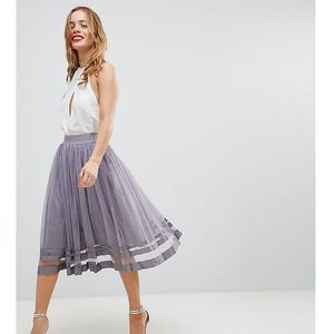 tulle midi skirt - grey marki Little mistress petite