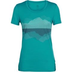 Icebreaker damski t-shirt wmns tech lite ss low crewe cook, reflected arctic teal, l (9420058519278)