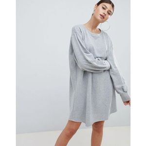 oversized sweater dress - grey, Prettylittlething
