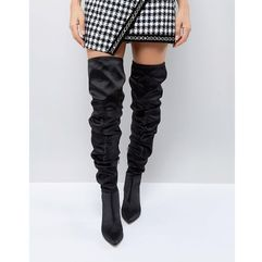 kenzie slouch over the knee boots - black, Asos