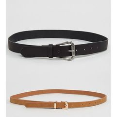 Asos 2 pack jeans and skinny belt pack - multi