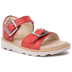 Clarks Sandały - crown bloom t 261411276 coral leather