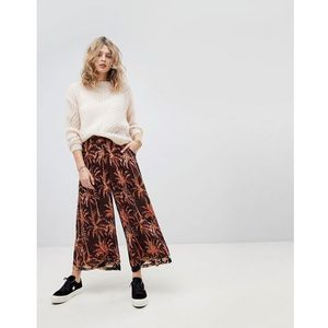 extra wide printed trousers - multi marki Maison scotch