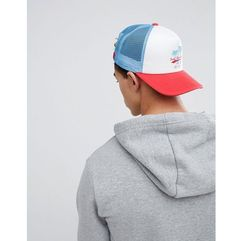 trucker cap with surf embroidery - white marki 11 degrees