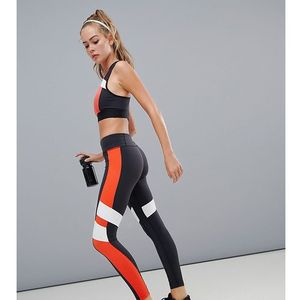 Reebok Training Exclusive To ASOS Colourblock Leggings In Black And Red - Multi