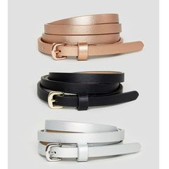 Asos curve 3 pack metallic waist and hip belts - multi