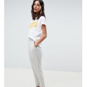 New look tall stripe trouser in grey - grey