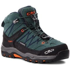 Trekkingi - kids rigel mid trekking shoes wp 3q12944 jungle/black blue 77bn marki Cmp