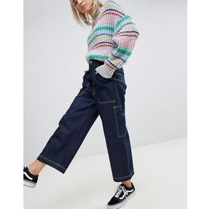 ASOS Workwear Skater Jeans with Neon Threads in Clean Indigo - Blue, jeans