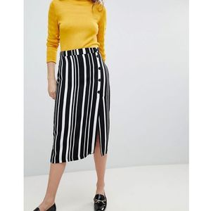 Bershka Midi Skirt In Multi Stripe - Multi, 1 rozmiar