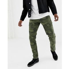 camo print cargo trousers slim fit in green - green, Abercrombie & fitch