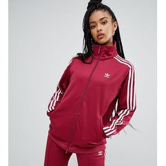 adidas Originals Three Stripe Track Jacket In Ruby - Red