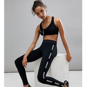 Ivy park active logo taped side stripe leggings - black
