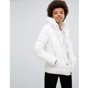short zip padded coat - white marki Brave soul