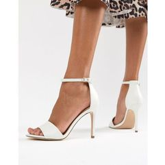 Aldo barely there heeled sandals - white