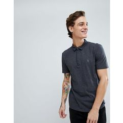 AllSaints Polo In Charcoal Marl With Logo - Grey, kolor szary