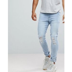 Hoxton Denim Super Skinny Jeans in Light Blue - Blue, kolor niebieski