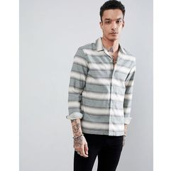 AllSaints long sleeve shirt in green stripe - Green, 1 rozmiar