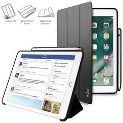 "zeta pro - etui ipad pro 10.5"" (2017) w/magnet & stand up + pencil holder (czarny) marki Puro"