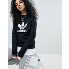 adicolor trefoil oversized sweatshirt in black - black, Adidas originals, 34-42