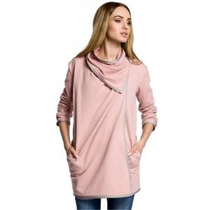 Sweter damski model 357 powder pink marki Moe