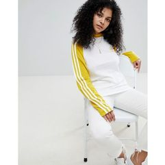 adidas Originals adicolor Three Stripe Raglan Top In Yellow - Yellow, w 2 rozmiarach