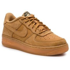 Nike Buty - air force 1 winter prm gs 943312 200 flax/flax/outdoor green