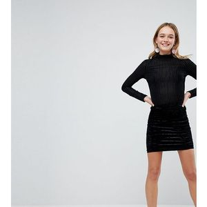 velvet mini skirt - black, Monki, 38-40