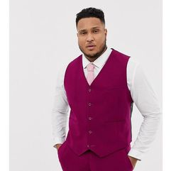 ASOS DESIGN Plus wedding super skinny suit waistcoat in plum - Purple