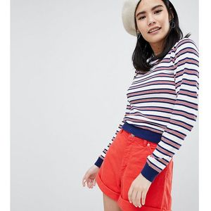 multi stripe knit top - multi, Monki