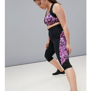 printed compression leggings - multi marki Rainbeau curve