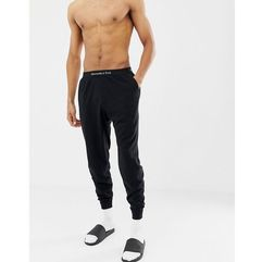 logo waistband cuffed lounge joggers in black - black, Abercrombie & fitch, S-XL