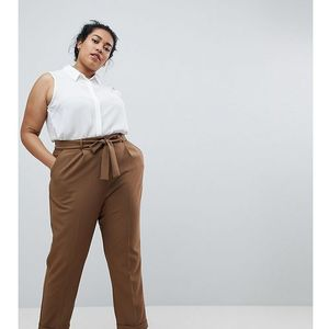 woven peg trousers with obi tie - green marki Asos curve