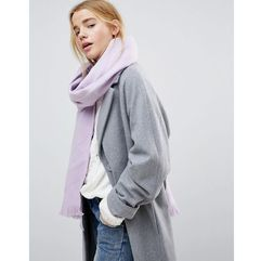 Asos super soft long woven scarf - purple