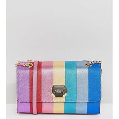 cambarreri rainbow glitter striped cross body bag - multi marki Aldo