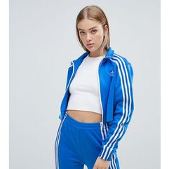 Adidas originals three stripe track jacket in blue - blue