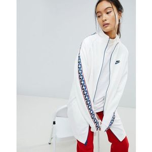 Nike Track Jacket In White With Taped Side Stripe - White, kolor biały