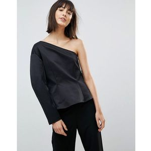 press collection rogue one shoulder top - black marki Weekday