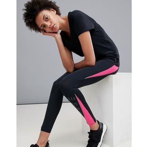 Esprit Gym Leggings With Pink Detail - Black