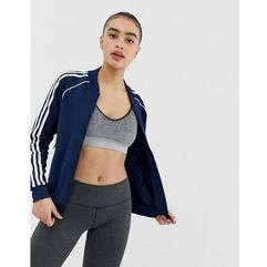 addias Originals three stripe track jacket in navy - Navy, kolor Navy