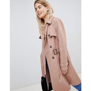 New Look Structured Mac Trench Coat - Pink, kolor różowy