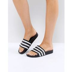 Adidas originals adilette slider sandals in black - black