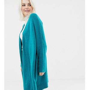 Asos design curve eco oversize cardigan in fluffy yarn - green, Asos curve