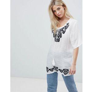 woodstock embroidered tunic top - navy marki Brave soul