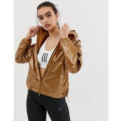 Adidas training wind jacket in bronze - brown