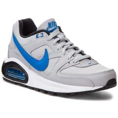 Buty NIKE - Air Max Command Flex (GS) 844346 007 Wolf Grey/Signal Blue/Black